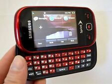 Samsung SEEK SPH-M350 Sprint Wireless Cell Phone RED slider keyboard EVDO Used C