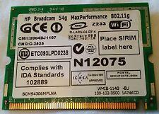 Carte Mini PCI WiFi HP Broadcom 54g Max Performance 802.11g BCM94306MPLNA