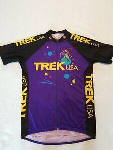Vintage Trek USA Cycling Jersey XL Made in USA 1980's OCLV Full Zip