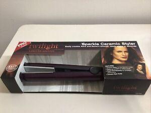 "TWILIGHT SAGA  LIMITED EDITION 1"" Purple Sparkle Ceramic Hair Styler  NEW"