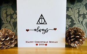 Harry Potter Christmas Card Birthday Card Always Boyfriend Girlfriend Husband