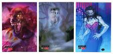 2016 Braiiinz Publishing Horror Meets Girl Complete 3 Card Lenticular Chase Set
