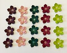 Double Flower Embellishments ~ made w/ Stampin Up In Colors ~ FRESH FLORALS