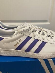 Adidas Originals White Leather Munchen UK11 BNIBWT