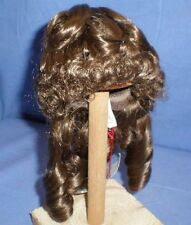 """doll wig brown 10"""" to 10.5"""" Wancke ringlets"""