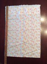 Toddler Handmade Pillow Case Blue/White/Pink Flower Print Cotton 15 1/2 X 27 3/4