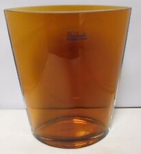 "Badash Handmade 8"" Amber Crystal Vase No Cracks (Made In Poland)"