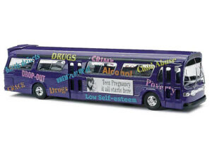 """New - H0/00/1:87 - Busch 44504 - US Bus - """"Anti Drugs Campaign"""""""
