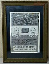 Sex-ine Pills Advertisement - Pioneer Drug Store - Virginia City Nevada
