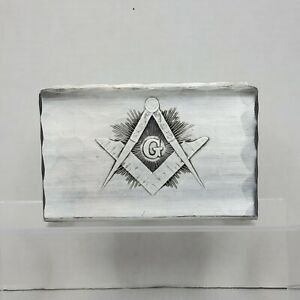Vintage Wendell August Forge Hammered Aluminum Masonic Napkin/Mail Holder