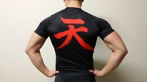 BLACK AKUMA (SMALL) Compression Rash Guard STREETFIGHTER BJJ, MMA, Jujitsu