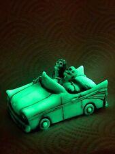 Neil Eyre Designs halloween glow dark old car skeleton haunted Chevy convertible