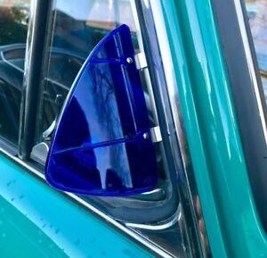 Breezies Wind Deflectors for classic car vw mini jaguar beetle BLUE AAC252B