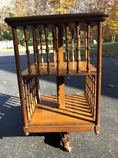 Gorgeous Rare Antique John Danner Revolving Bookcase - Very Good