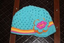 HANDMADE CROCHET KNIT HATS FOR BABIES & KIDS-CAP STYLE-BLUE-SIZE 0-2 YRS