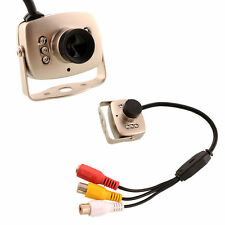 Wired CMOS CCTV Video and Audio Security Camera Hidden Pinhole Spy Nanny Camera