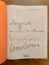 SIGNED REM KOOLHAAS and SIGNED IRMA BOOM : Elements of Architecture  (VERY RARE)