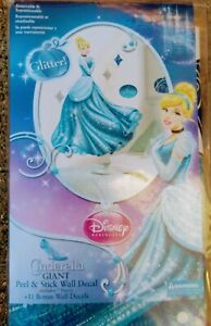 Disney Princess - Cinderella Glamour Glitter Peel & Stick Giant Wall Decal 40""