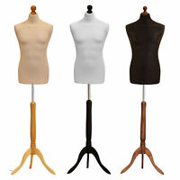 Male Tailors Bust Retail Shop Display Dressmakers Dummy Mannequin Various