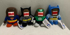 "DOMO Superhero Stuffed 10"" Plush LOT Blue BATMAN GREEN LANTERN & SUPERMAN"