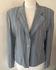 90's Ouiset Striped Jacket - Size 40 (12AU)