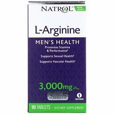 Natrol L-Arginine 3000 mg 90 Tablets Egg-Free, Fish Free,...