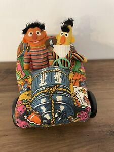 Rare Knickerbocker Sesame Street Ernie & Bert's Buggy Bert & Ernie Dolls 1975