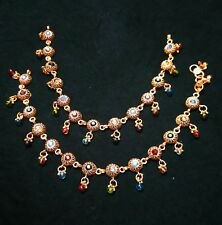 Tribal Handmade Golden Anklets for Women Fashion Jewelry Indian Wedding Gift
