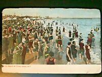 Vintage Postcard>1901-1907>On the Beach at Coney Island.New York