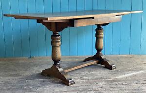 Large Vintage Extending Turned Wood Oak Drawer Leaf Table DELIVERY*