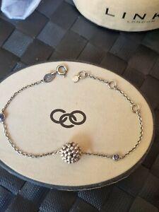 """Links of London Effervescence Bubble bracelet Sterling Silver 7.5"""" in box"""