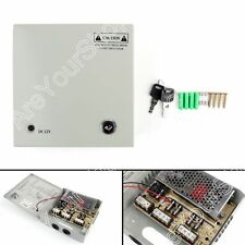 1Set 4CH Channel Power Supply Box For CCTV Camera Security Surveillance 12V 5A