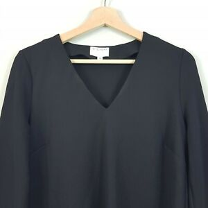 [ WITCHERY ] Womens L/S Black V/neck Top  | Size XS or AU 8