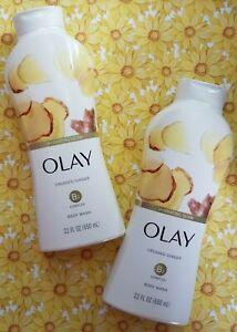2 Olay Hydrating Glow Crushed Ginger Body Wash Shower Gel B3 Complex 22 oz 650ml