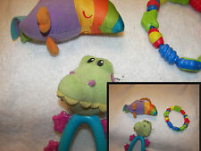 baby toys 01 set of 3 toucan chew ring  aligator bright stars chewys and rattler