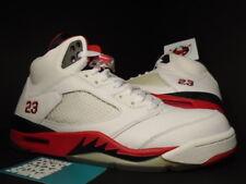 2006 Nike Air Jordan V 5 Retro WHITE FIRE RED BLACK WOLF GREY 136027-162 DS 9.5