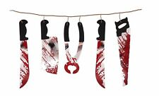 HALLOWEEN TORTURE TOOL GARLAND PARTY DECORATION BUNTING BANNER 1.8M SPOOKY SCARY