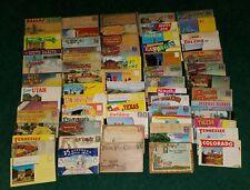 1930-60s Huge Lot of 60+ Souvenir Travel Postcard Folders - Whole Shoebox full