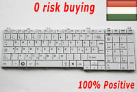 KbsPro Hungarian Keyboard for Toshiba Satellite C670 L650 L655 L750 L770 White
