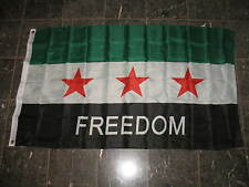 3x5 SYRIAN FREEDOM FLAG, 3'x5' Syria 3 Star Free Army Kurds 3' x 5' Flag Banner