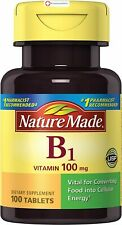Nature Made Vitamin B1 100mg Vital for Converting Food into Cellular Energy