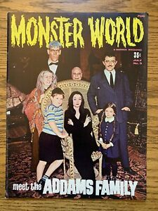 Monster World Magazine #9 July 1966, The Addams Family Issue FN+ Date Stamp