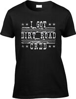 I Got Dirt Road Cred Saying Statement Country Music Song Farm Lyrics Womens Tee