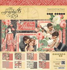 Graphic45 MON AMOUR 12x12 PAPER PAD scrapbooking Vintage VINTAGE ROMANCE