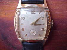Vintage Bulova L7 Watch 1950s working wristwatch gold plate leather band H660