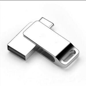 Personalize LOGO Metal swival OTG Type C USB 2.0 memory flash stick pen drive