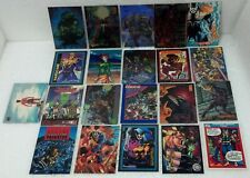 21 card set Various Super Heroes from 1990's VG Some foil, glossy, promos