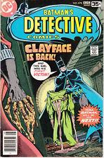 DETECTIVE COMICS 478 - 1st FULL APP CLAYFACE III (BRONZE AGE 1978) - 8.5