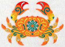 Embroidered Sweatshirt - Flower Power Crab M5074