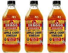 Bragg Organic Unfiltered Apple Cider Vinegar, Raw, Gluten Free 16 fl oz 3 Pack